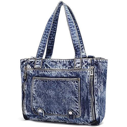 0ae972ae1b6 Donalworld Women Casual Denim Shoulder Bag Tote Handbag
