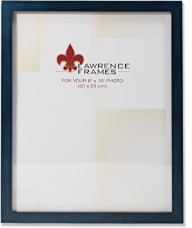 Lawrence Frames Blue Wood Picture Frame, Gallery Collection, 8 by 10-Inch