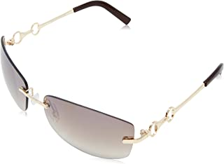 FIORELLI Women's Kelly Sunglass, Shiny Gold, 57 mm