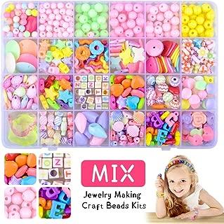 XIMEN Bead for Bracelet Making Kit for Kids Girls - Best Birthday Gift