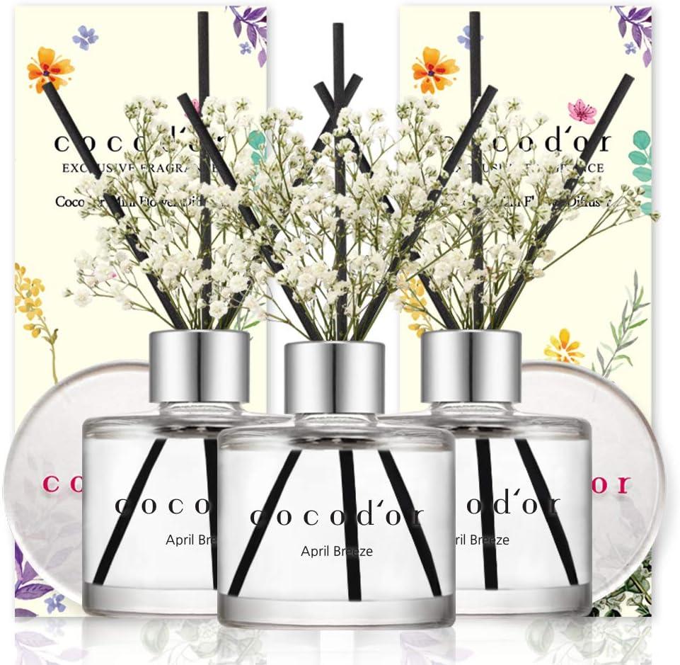 Cocodor Mini Flower Diffuser April Special Campaign 50ml Diff 1.6oz quality assurance 3Pack Breeze