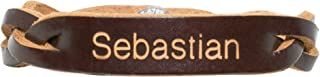 Personalized Genuine Leather Braided Bracelet - Brown - Free Engraving