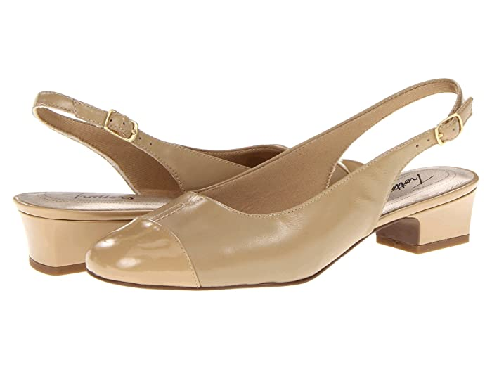Retro Vintage Style Wide Shoes Trotters Dea Nude Womens 1-2 inch heel Shoes $71.87 AT vintagedancer.com