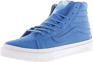 Vans Mens SH8-HI Slim Leather Hight Top Lace up Fashion Neon Blue Size 4.5
