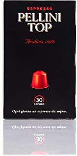 Pellini Caffè Top Arabica 100%, Compatibili Nespresso, Autoprotette, 100% Compostabili, 30 Capsule