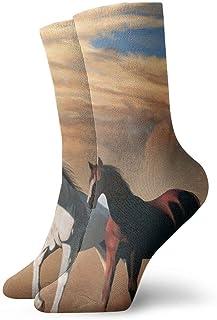 tyui7, Running Horses Digital Art Calcetines de compresión antideslizantes Cosy Athletic 30cm Crew Calcetines para hombres, mujeres, niños