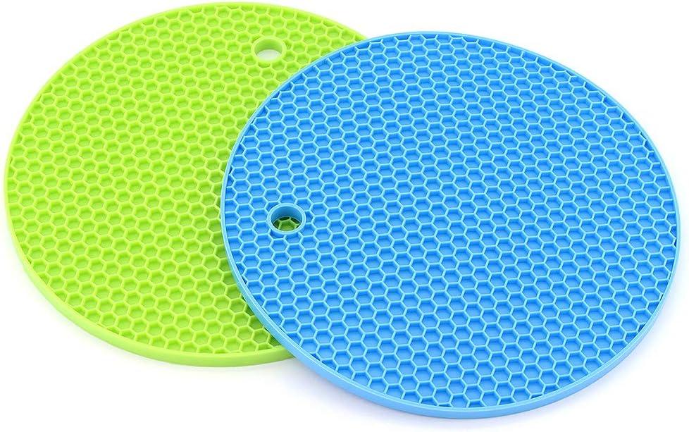 Pentole per pad isolanti per stoviglie Tappetino antiscivolo Arancione-Giallo 18 cm Sottobicchieri termoresistenti 10 pezzi Tappetino isolante per tazza ShawFly Tovaglietta in silicone