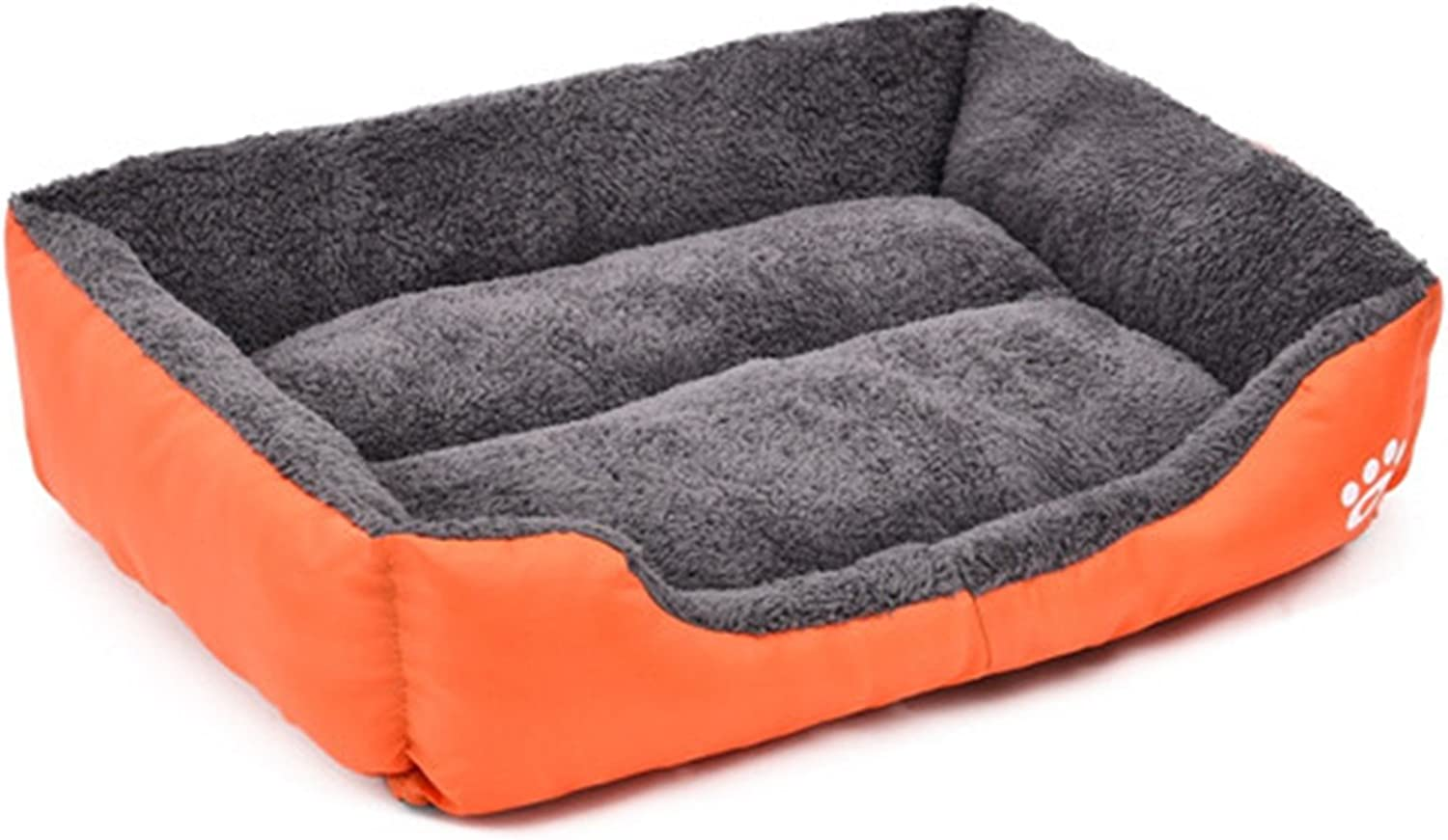 Feroni Pet Dog Bed Warming Dog House Soft Material Pet Nest Candy colord Dog Fall and Winter Warm Nest Kennel for Cat Puppy 4 colors orange L