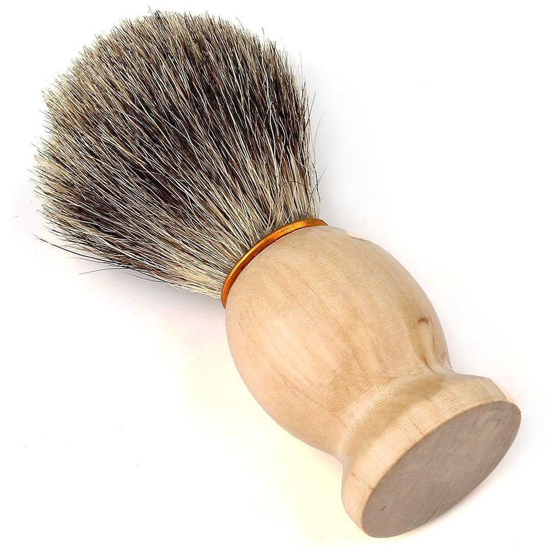 誤豊富なクラウンEasy Raku?ひげブラシ シェービングブラシ アナグマ毛 髭剃り 泡立ち メンズ シェービングブラシ(ブラシだけ)
