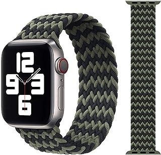 Correa de tela de nailon para Apple Watch Band 44mm 40mm 38mm 42mm Pulsera elástica para IWatch Series 6 SE 5 4 3