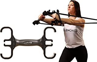 Clench Resistance Bands Handle & Storage Device - Perfect Ergonomically Designed Portable Exercise Band Handle w/Three Attachment Points (Single)