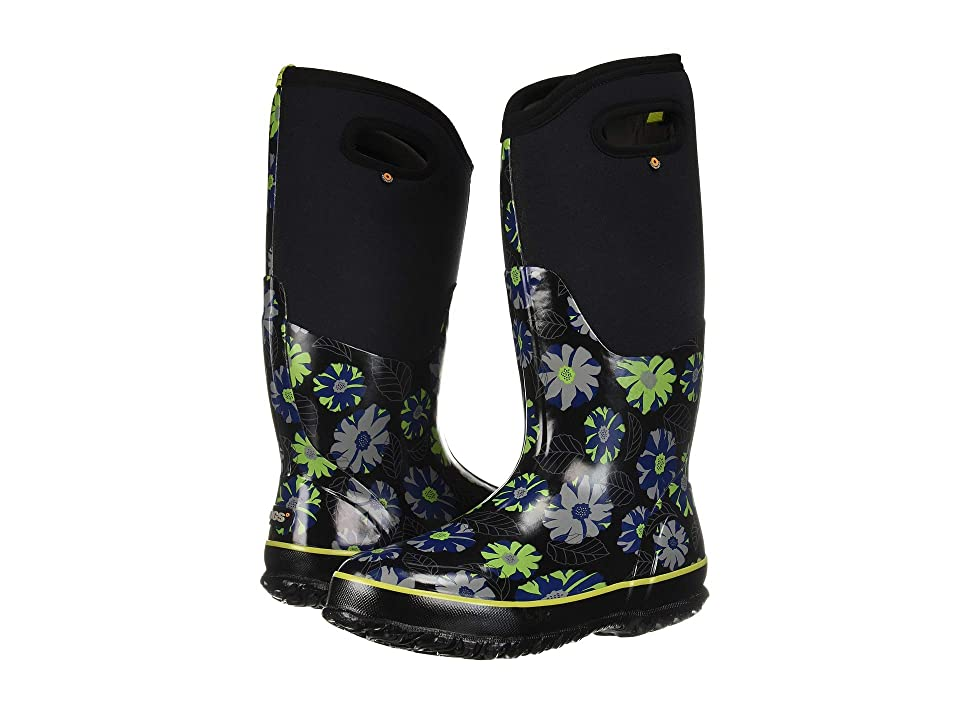 Bogs Classic Tall Winter Floral (Black Multi) Women