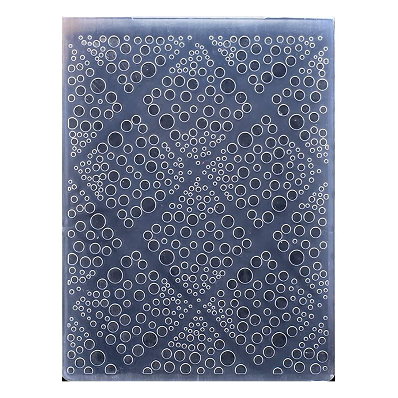 Kwan Crafts Diamond Bubble Plastic Embossing Folders for Card Making Scrapbooking and Other Paper Crafts, 10.5x14.5cm