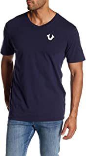True Religion Men's Classic Horseshoe Logo Short Sleeve V Neck Tee