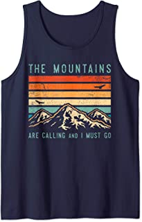 Mountains are Calling & I Must Go Retro Vintage 80s Mountain Tank Top