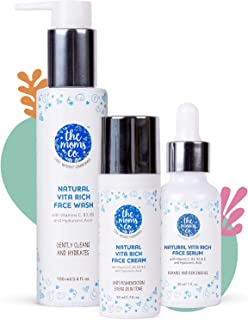 The Moms Co. Natural Vita Rich Complete Night Repair Bundle with Face Wash, Face Cream & Face Serum