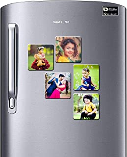 Deep Print Personalized Photo Fridge Magnet (3x3 inch) -Set of 5