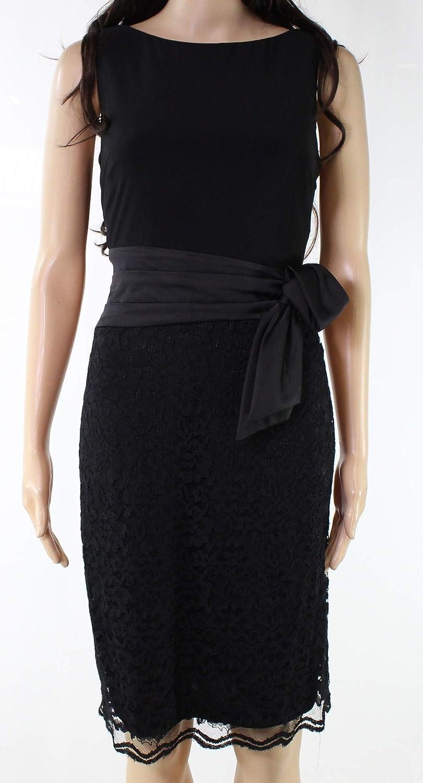 American Living Womens Ruffled ALine Dress Blkblk 6