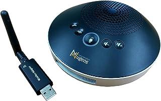Nugens 全方位式 Web 会議機・スピーカーフォン マイクスピーカー ワイヤレススピーカーフォン USB/2.4G/AUX対応 遠隔会議用 最大8人まで対応 360˚全方向集音 エコー・ノイズのキャンセリング 高音質 LED指示 位置検出...
