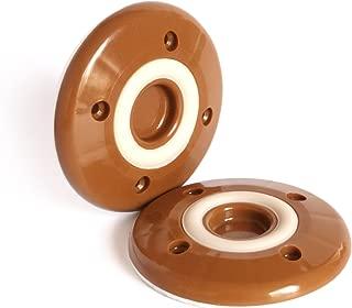 Slipstick CB822 Non Slip Grip Furniture Feet Floor Protectors for Furniture Legs (Set of 4 Grippers) 3-1/4 Inch Round - Caramel