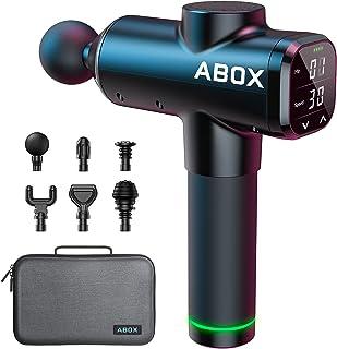 ABOX Pistolet de Massage Musculaire, Masseur Musculaire avec Fonction de Minuterie & 30 Vitesse Réglables, Masseur de Musc...