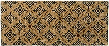 Rubber-Cal 24-Inch-by-57-Inch Classic Fleur de Lis French Matting Double Door Mat