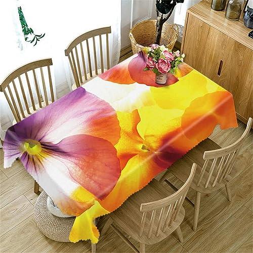 Europe 3D Nappe Bleu Demon Ji Fleurs Motif épousseter épaissir Coton Tissu De Table pour Le Mariage Maison Textile Couleur 1 180cm X 270cm