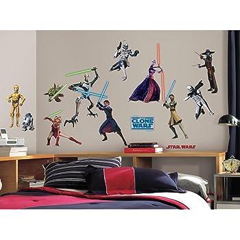 RoomMates RMK1382SCS Star Wars: The Clone Wars Glow in the Dark Wall Decals/スターウォーズ/ウォールステッカー/並行輸入品