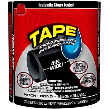 Qwebars Waterproof Flex Tape for Seal Repair Tape and Super Strong Adhesive Sealant Tape to Stop Leakage of Kitchen Sink and toilet Tub leak stop tape (1, Large)