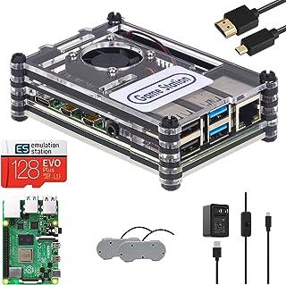 TAPDRA Estación de Videojuegos RetroPie Arcade con más de 14000 Juegos, 128G Raspberry Pi 4B (4G Ram), Plug and Play, Puer...