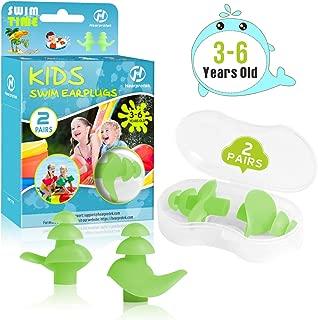 Hearprotek 2 Pairs Ear Plugs for Swimming Kids, Soft...