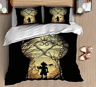 Duvet Cover My Kingdom 3 Pcs Bedding Set Modern Style Print Set with Zipper Closure 1 Quilt Cover 2 Pillow Cases Comfortable Home Soft Luxurious Bohemia