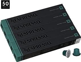 Nespresso Fortissio Lungo OriginalLine Capsules, 50 Count Espresso Pods, Intensity 8 Blend, Indian Malabar & Colombian Arabica Coffee Flavors