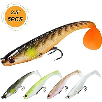 "TRUSCEND Fishing Lures, 2.8"" ~8"" Bass Lures with Ultra-Sharp BKK Hooks, Japan Formula, Paddle Tail Swimbaits, Manual Printing"