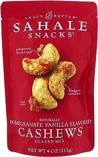 Sahale Snacks Glazed Mix Naturally Pomegranate Vanilla Flavored Cashews 4 oz 113 g