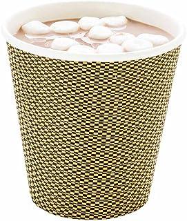 كوب قهوة ورقي 226.7 جم عليه دبابيس بلون الموكا - حائط حلزوني - 3 1/2 بوصة × 3 1/2 بوصة × 3 1/4 بوصة - 25 صندوق - أدوات الم...