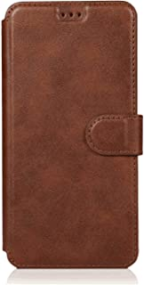 PU Leather Flip Cover Compatible with iPhone XS, Elegant coffee Wallet Case for iPhone XS