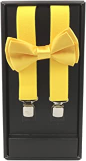 Suspenders for Men, 2 in 1 Suspenders and Bow Tie, Mens Outfits Casual Suspender and Bow Tie Special Edition