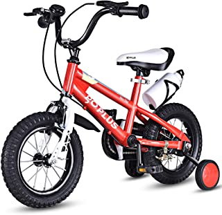 Goplus Freestyle Kids Bike Bicycle 12inch/ 16inch/ 20inch Balance Bike with Training Wheels for Boy's and Girl's