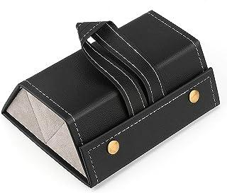 Brynnl Pudełko do przechowywania okularów, 3-wrzutowe pudełko do przechowywania okularów ekspozycja na okulary pudełko org...