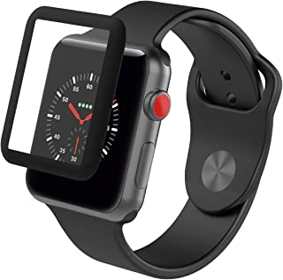 ZAGG InvisibleShield Glass Luxe HD Clarity + Reinforced, Tempered Glass Screen Protector for Apple Watch (42mm) Series 3 - Black