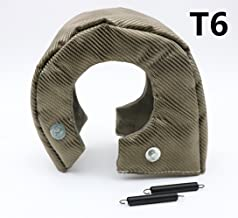 HM&FC T6 Titanium Lava Cover Turbo Shield Turbo Blanket with Fastener Springs