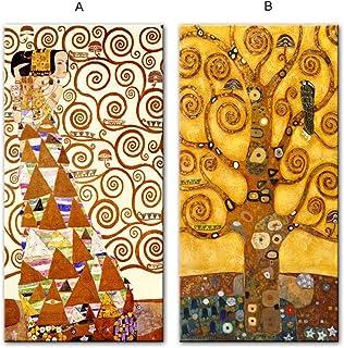 Tree Of Life Canvas Art Paitnings Reproducciones de pinturas clásicas famosas Imagen de pared para sala de estar-40x80cmx2...