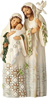 Enesco Jim Shore Heartwood Creek White Woodland Holy Family