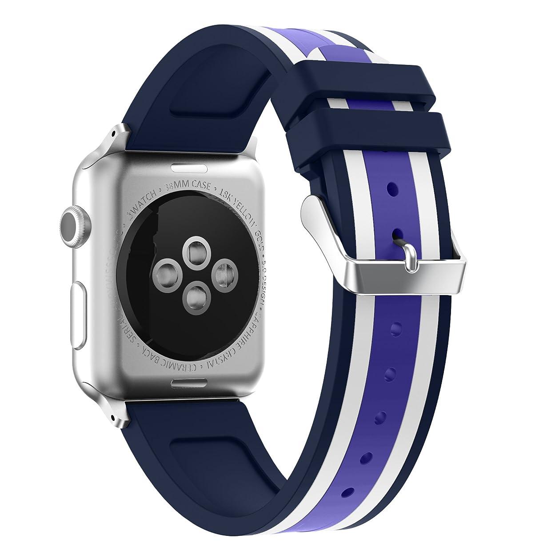 眠り署名おそらくCompatible Apple Watch バンド 38/40MM 42/44MM,YAYUUソフトウォッチスポーツ、シリーズ3、シリーズ2、シリーズ1のソフトシリコンストラップ調節可能な交換iWatch 38/40mm 42/44mmバンド
