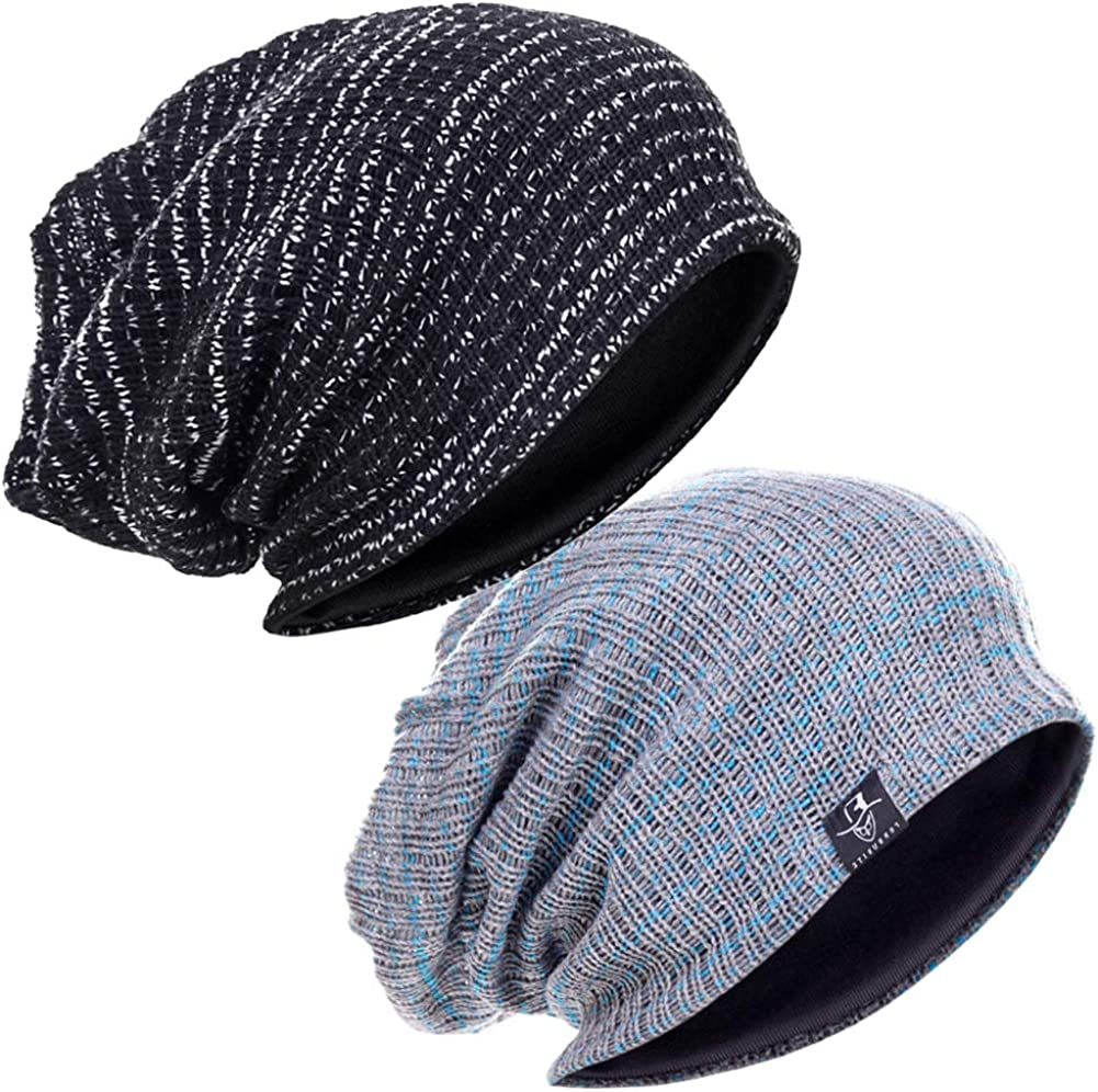 DENOTA Mens Ranking TOP16 Slouchy Beanie Large Knit Skull Ranking TOP4 Baggy Cap Summer Hat