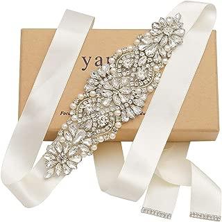 Handmade Rhinestone Crystal Beads Wedding Bridal Belts