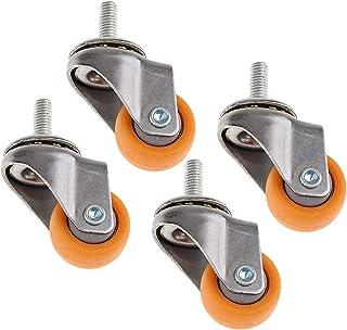 Stuurpenwielen 1 Inch Nylon Zwenkwiel Voor Winkelwagentjes M6 Draadbouten (Kleur: 4 Stuks)