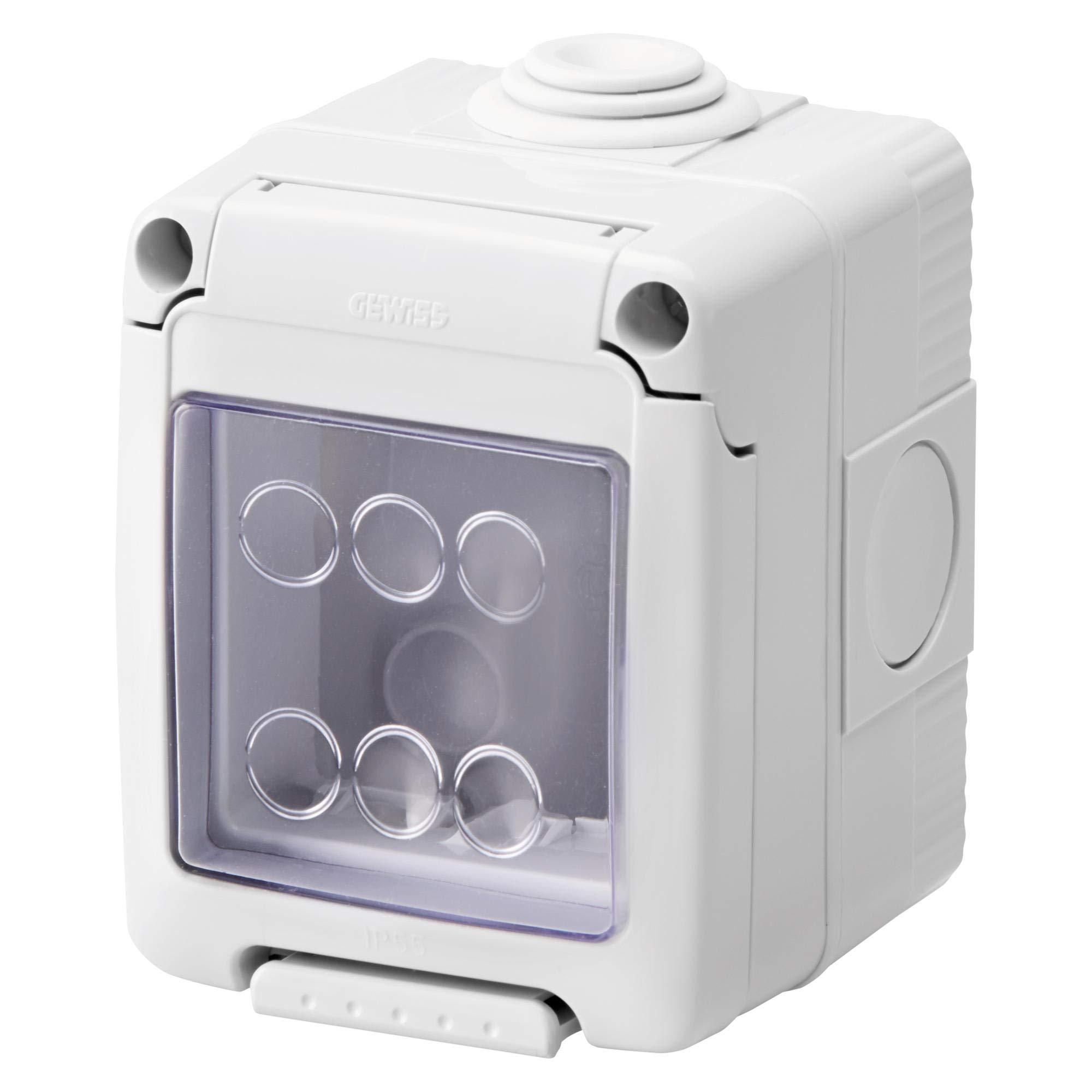 Gewiss GW27041 IP55 caja eléctrica - Caja para cuadro eléctrico (66 mm, 65 mm, 82 mm): Amazon.es: Bricolaje y herramientas