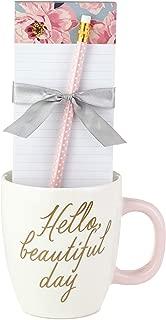 Hallmark Mug and Notepad Bundle, Hello Beautiful Day, 3 Inches, Mug Bundle